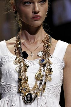 "sedefisim: "" Sasha Pivovarova at Dolce and Gabbana spring/summer 2011. """