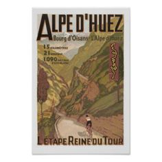 France Gifts - T-Shirts, Art, Posters & Other Gift Ideas. Alpe d'Huez French Vintage Poster.