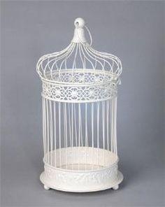 20cm Round Bird Cage - Cream