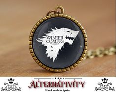 Winter is coming, Winter is coming necklace, GOT, Game of Thrones Necklace, Game of Thrones Jewelry, Game of thrones Pendant, (111) by Alternativity on Etsy