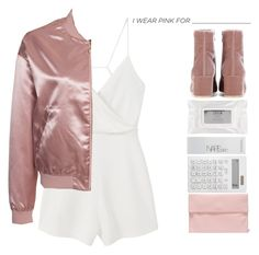 """""""I Wear Pink for______ // On Wednesdays we Wear Pink // Sprit Week day 2 (Pink Day)"""" by maevekaterina ❤ liked on Polyvore featuring NARS Cosmetics, MANGO, NLY Trend, Marni, Gianvito Rossi, Muji, Stila and IWearPinkFor"""