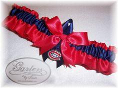 Items similar to ON SALE Montreal Canadiens Inspired Wedding Garter Handmade Toss Satin RN on Etsy Hockey Wedding, Wedding Garter, Montreal Canadiens, 10 Anniversary, Handmade Wedding, 4th Of July Wreath, Vows, Wedding Inspiration, Wedding Ideas