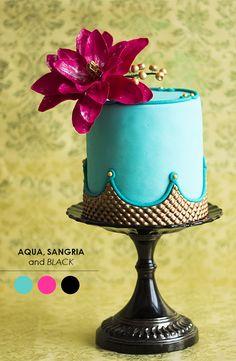 Aqua, Sangria + Black