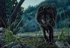 Resultado de imagen para angry black wolf