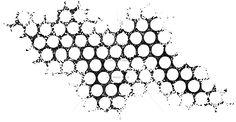 Designs - Honey Comb texture rubberstamp 100 Proof Press