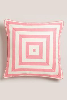 Mauve stripe throw pillow from World Market
