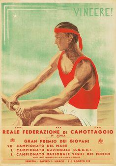 Vincere ! Reale Federazione di Canottaggio - 1941 -