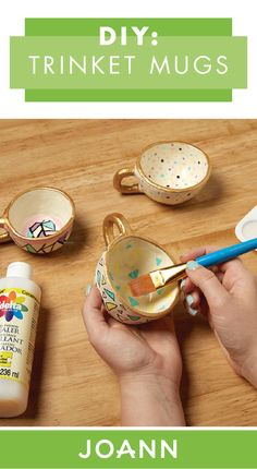 For a handmade gift that is fun and easy to make, check out these DIY Trinket Mugs from JOANN. Great for rings or keys, these patterned cups can even be personalized depending on who you're giving them to!