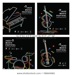 Find Jazz Music Banner Poster Square 4 stock images in HD and millions of other royalty-free stock photos, illustrations and vectors in the Shutterstock collection. Cat Empire, Jazz Poster, Anti Smoking, Music Illustration, Music Promotion, Jazz Festival, Jazz Music, Musical Instruments, Illustrations Posters