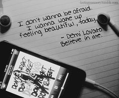 Just wanna believe in me...