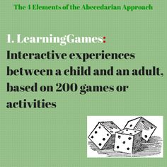 "The first element of the Abecedarian Approach is to engage children with activities and games that help them develop cognitively and stimulate learning. As the Abecedarian approach does not follow a particular curriculum, these games can then be thought as ""bite-size pieces of curriculum"" (Sparling, 2010). Visible Learning, 4 Element, Learning Support, Early Intervention, Nurse Life, Bite Size, Love Life, The Funny, Curriculum"