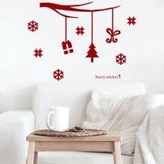ウォールステッカー クリスマスの吊るし飾り Christmas