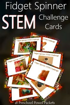 Use those fidget spinners for some good! Fun Fidget Spinner STEM Challenge Cards for preschool, kindergarten, and elementary aged kiddos! Science Activities For Kids, Stem Science, Preschool Science, Preschool Activities, Educational Activities, Life Science, Pokemon Go, Kindergarten Stem, Preschool Programs
