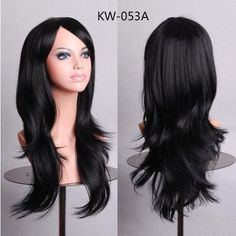 MCOSER 70CM 10 Colors Womens Long Wavy Synthetic Cosplay Party Full Wigs 100% High Temperature Fiber Hair