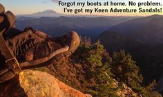 Red Mountain gear: Helmet and sandals - moosefish.com