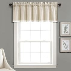 You'll love how our Light Gray Linen Lace Valance looks in any room. The stylish vintage look of this window panel set adds elegance to any room in your home. Lace Valances, Lace Curtains, Hanging Curtains, Window Curtains, Curtain Valances, Country Curtains, Shower Curtains, Lush, Lace Window