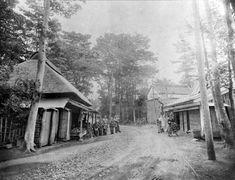 1923年(大正12年)頃の「中原街道」大森六中前坂下(五反田方面)東急池上線洗足池駅付近