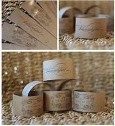 Thanksgiving strips - create a garland or use them as napkin rings - free printable