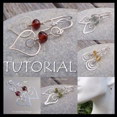 50% + 20% Off Hammered Heart Earrings, Wire Wrap Jewelry Tutorial by Kristin Smith