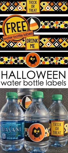 Wrap these Halloween bottle labels around your water bottles as a special treat. These free Halloween printables add fun to your parties and fall festivals this year.