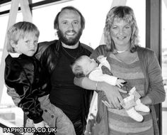 Maurice Gibb's family: wife Yvonne, son Adam, and daughter Samantha