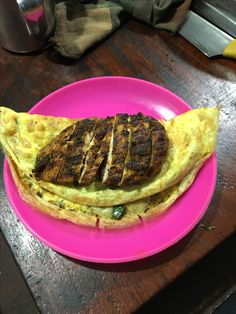 Grilled Spicy Chicken Breast Served over Omelette only at Eggfactor Street House  Banglore