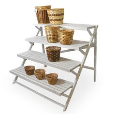 Wooden Four Shelf Retail Display The Lucky Clover Trading Co.