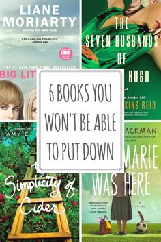 6 books worth reading. You won't be able to put these books down, including suspenseful books, inspirational books, books for women, fiction books 2017, bestselling books, and more.
