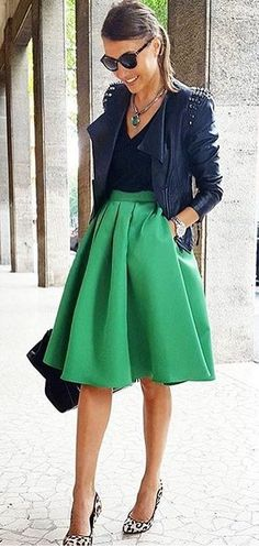This high waisted skirt is bomb.com Definitely could turn into a base piece of my closet.