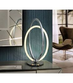 Comprar online Lámpara de Sobremesa Colección OCELLIS Cromo Luz Led, Tan Solo, Mirror, Lighting, Chair, Table, Furniture, Design, Home Decor