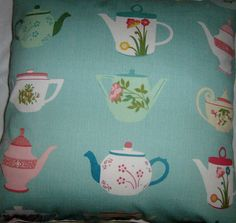 Everyone loves a cuppa Cushion by gonevuku on Etsy, $40.00