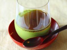 絹ごし豆腐でつくる 口溶け滑らかな抹茶のムース