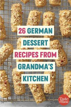 26 German Dessert Recipes from Grandma's Kitchen These German desserts taste just like Grandma used to make. From spritz cookies to streudels, you won't be able to get enough. German Cookies, German Cake, German Christmas Cookies, German Christmas Markets, Traditional German Desserts, Deutsche Desserts, Baking Recipes, Dessert Recipes, Meal Recipes