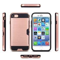for apple iphone 7/7 plus Hybrid TPU+PC hard armor shockproof dirtproof case   #Yihailu