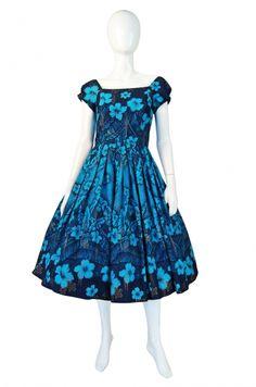 1960s Kamehameha Hand Painted Dress