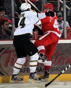 Dallas Stars vs. Detroit Red Wings - Photos - January 29, 2013 - ESPN THIRD STAR: #40 Henrik Zetterberg, Red Wings