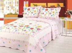 Pink Flowers Quilt Set Twin Home Sensation http://www.amazon.com/dp/B00D6OIU4K/ref=cm_sw_r_pi_dp_SdDWtb11WWPY88YP