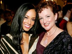 Few things are more beautiful than Interracial love...Alicia Keyes & mom Theresa!