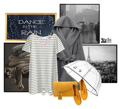 """""""Dance in the rain"""" by euro-filou ❤ liked on Polyvore featuring WithChic, Kate Spade, Henri Bendel, Tod's, Humble Chic, contest, rainydaystyle and shein"""