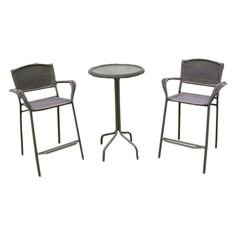 Good International Caravan Chelsea 3 Piece Bar Height Patio Bistro Set U0026 Reviews  | Wayfair