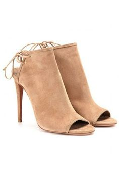 Aquazzura Mayfair Suede Stilettos and other apparel, accessories and trends. Browse and shop 24 related looks. Nude Shoes, Nude Pumps, High Heels Stilettos, Shoes Heels, Fashion Mode, Fashion Shoes, Luxury Fashion, Bootie Boots, Shoe Boots