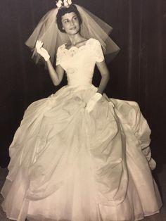My grandmother on her wedding day (1961)