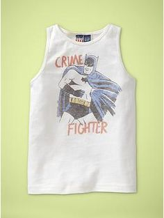 Batman Crime Fighter tank for boys  $22.95  www.junkfoodclothing.com