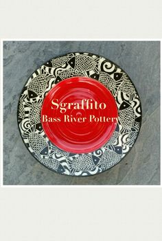 Sgraffito plate. Fish. Sgraffito, Bass, Decorative Plates, Pottery, River, Home Decor, Ceramica, Flat, Rivers