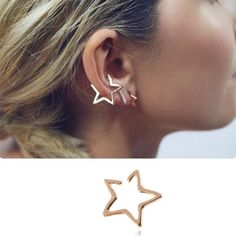 18K Gold Plated Irregular Moon And Star With Round Imitation Pearl Ball Charm Tassel Drop Stud Earrings