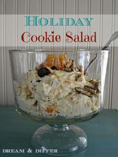 Holiday Cookie Salad. By Dream and Differ. I made this today for our Memorial Day BBQ. It is so yummy and easy to make.