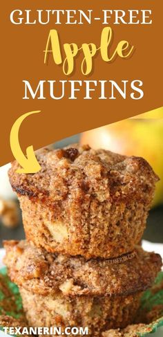 These super moist gluten-free apple muffins have the most amazing texture and are super simple to make! Grain-free and gluten-free. They're just perfect. Like little grain-free miracles! #glutenfree #grainfree #muffins #applemuffins Gf Recipes, Gluten Free Recipes, Dessert Recipes, Healthy Recipes, Healthy Dessert Options, Apple Muffins, Free Stuff, Super Simple, Recipe Box
