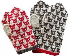 Fair Isle Knitting, Knitting Socks, Fingerless Mittens, Wrist Warmers, Mitten Gloves, Knit Crochet, Knitting Patterns, Viria, Marimekko