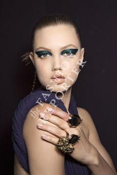 Lindsey Wixson at Atelier Versace Backstage | Haute Couture FW14-15 | Ph. Antonello Trio