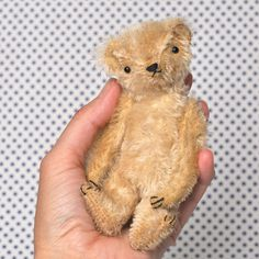 PATTERN PDF Maxwell the Little Mohair Bear by jennifermurphy